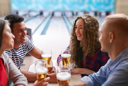 beer and bowling
